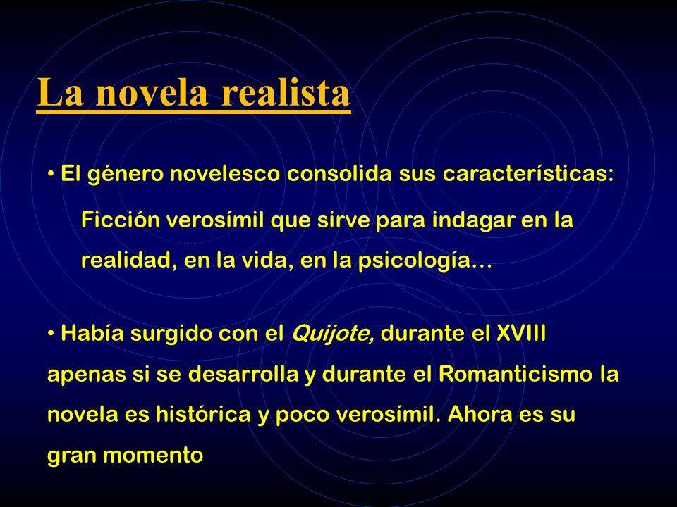 La novela realista El género novelesco consolida sus características: