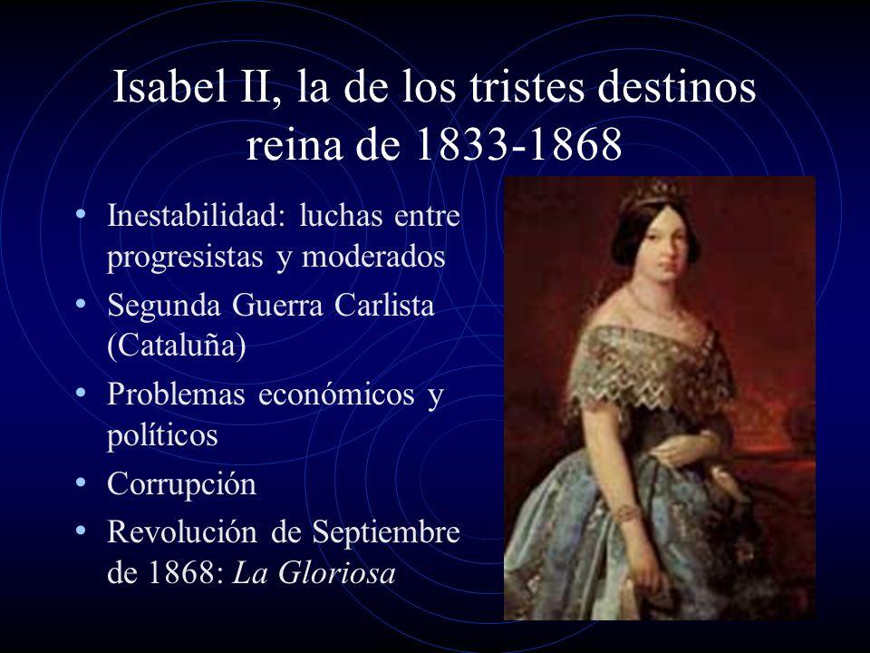 Isabel II, la de los tristes destinos reina de 1833-1868
