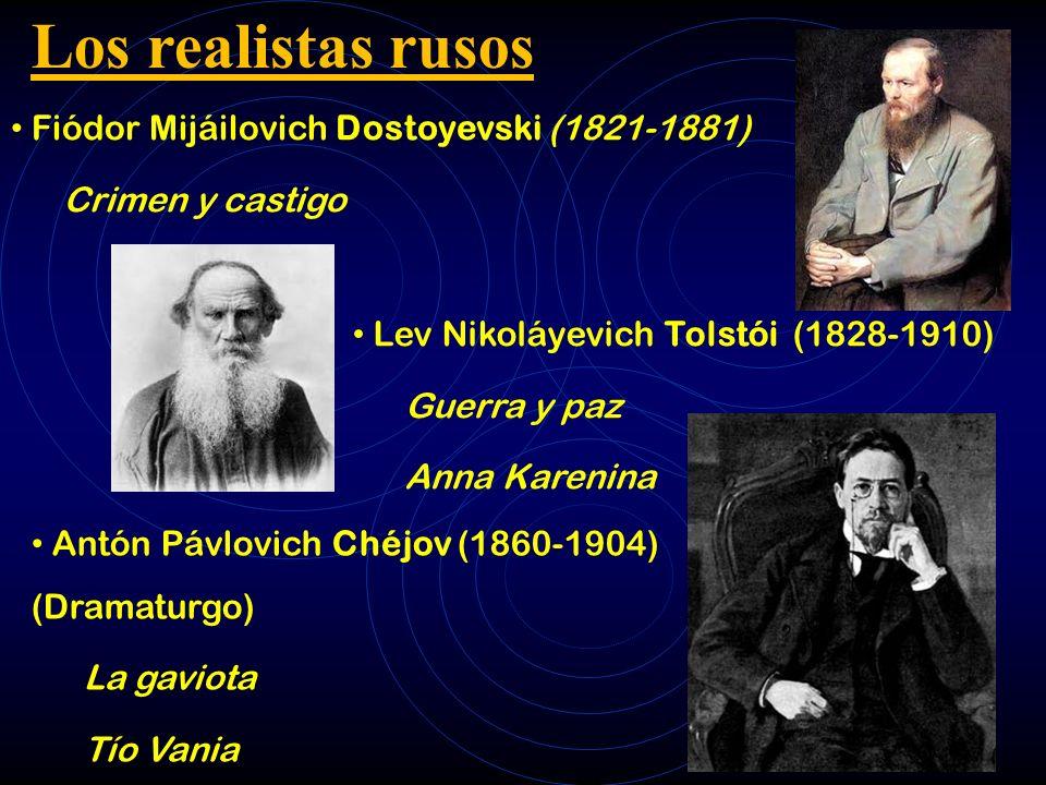 Los realistas rusos Fiódor Mijáilovich Dostoyevski (1821-1881)