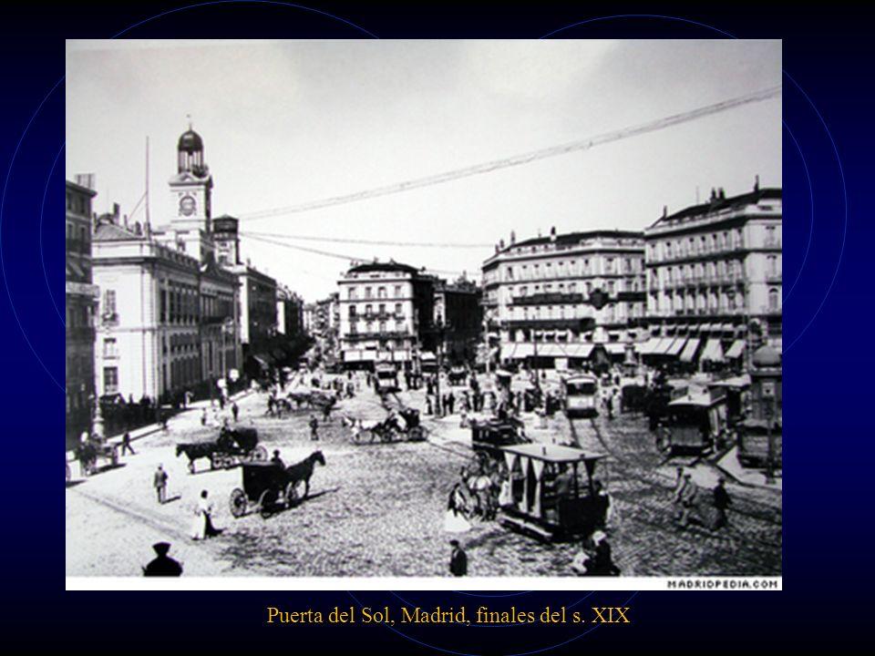 Puerta del Sol, Madrid, finales del s. XIX