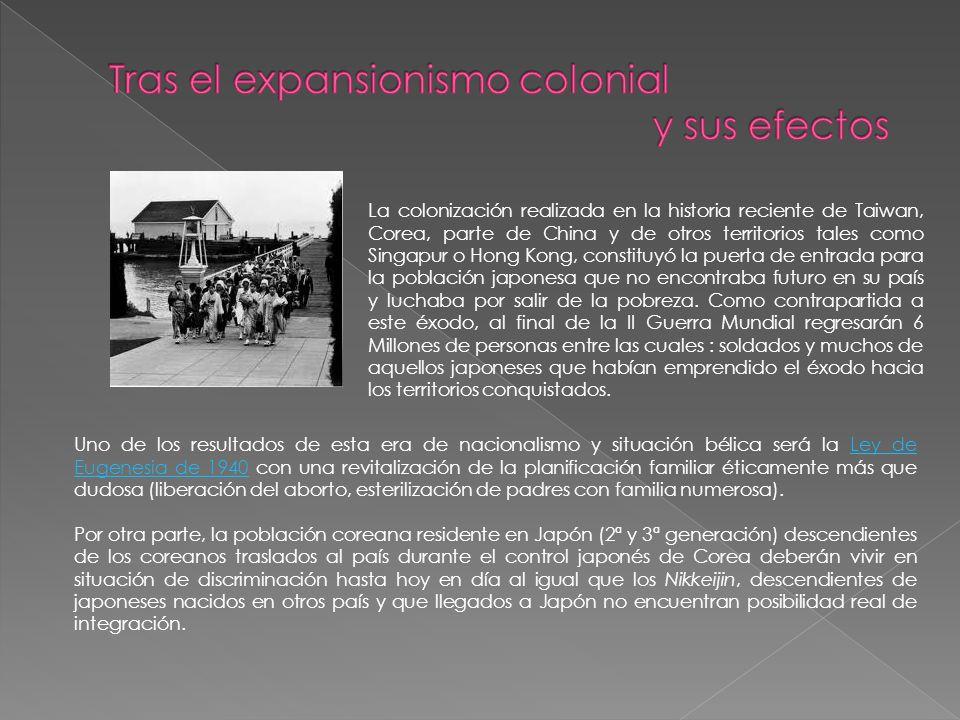 Tras el expansionismo colonial y sus efectos
