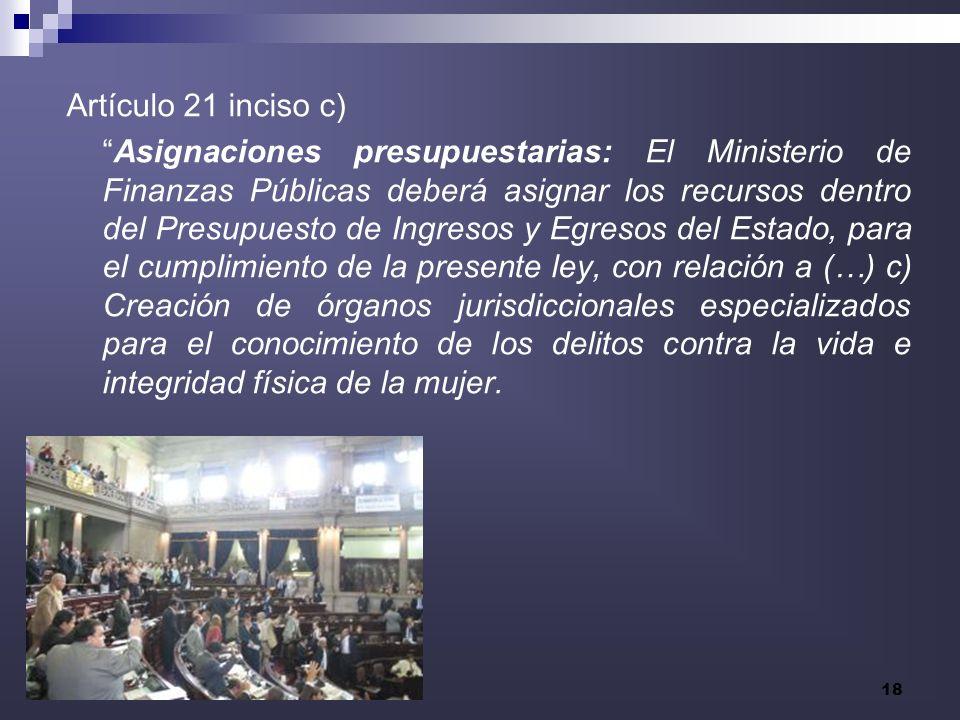 Artículo 21 inciso c)