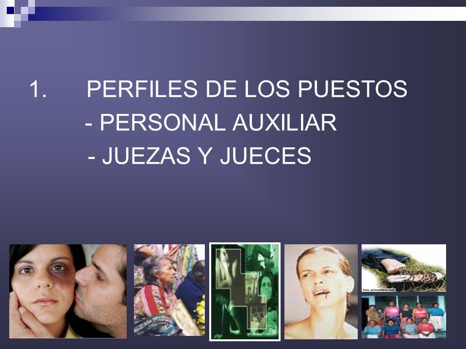 1. PERFILES DE LOS PUESTOS