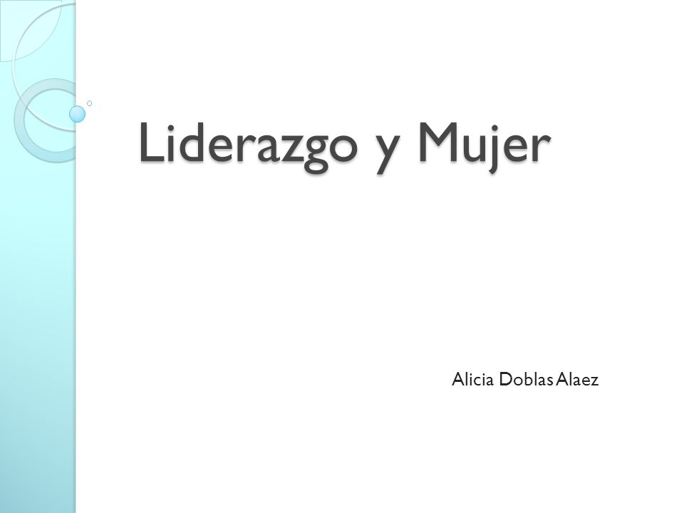 Liderazgo y Mujer Alicia Doblas Alaez