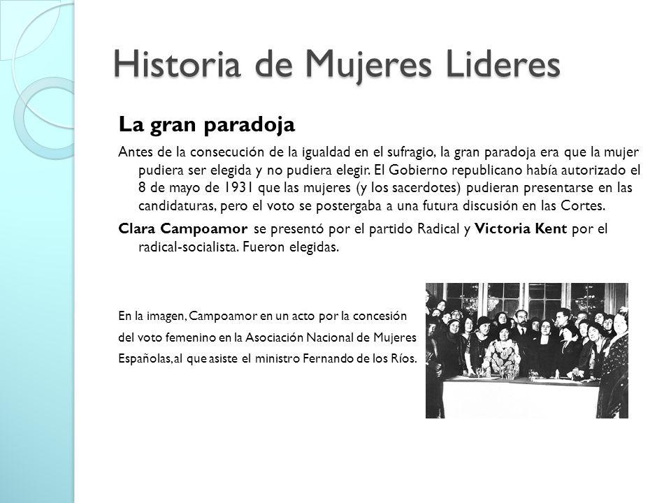 Historia de Mujeres Lideres
