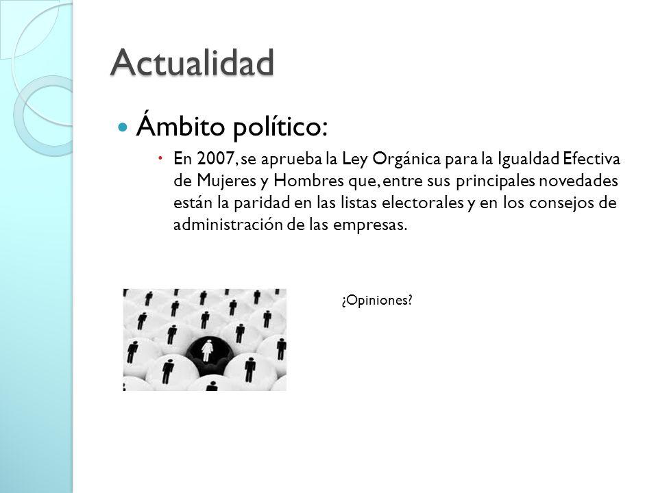 Actualidad Ámbito político: