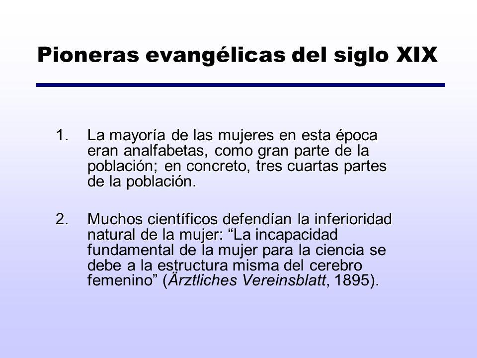 Pioneras evangélicas del siglo XIX