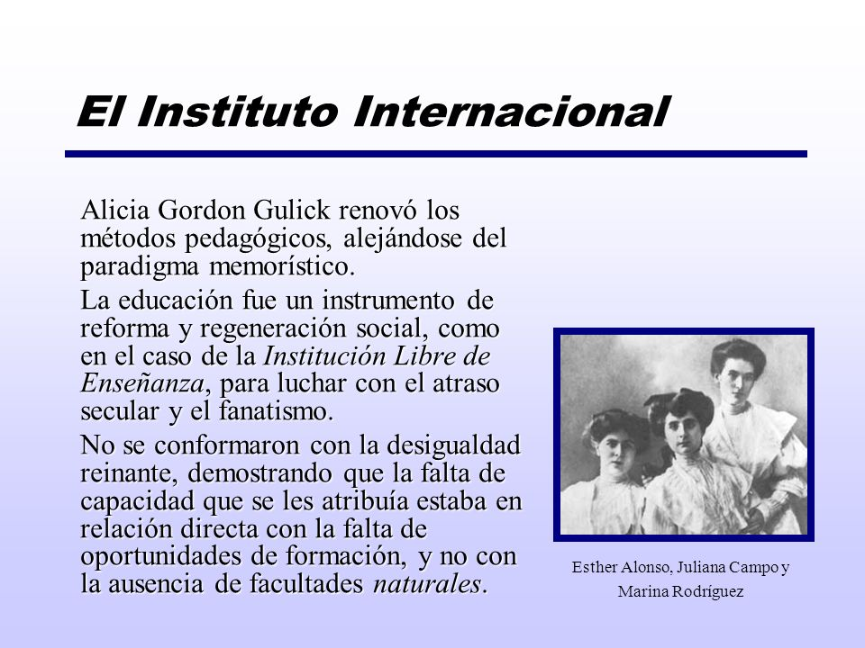 El Instituto Internacional