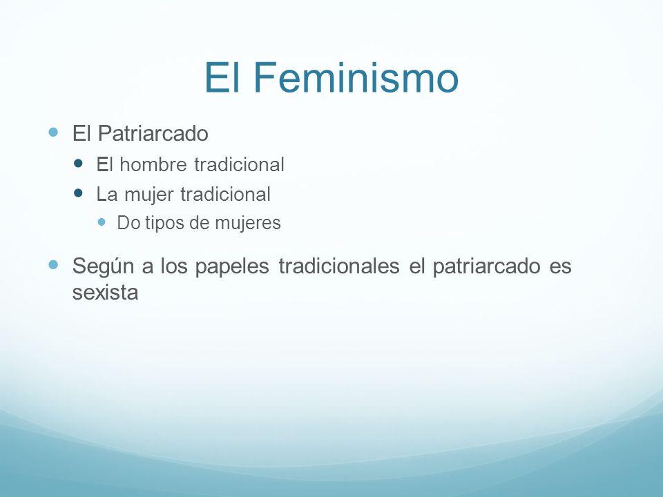 El Feminismo El Patriarcado