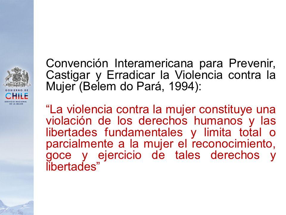 Convención Interamericana para Prevenir, Castigar y Erradicar la Violencia contra la Mujer (Belem do Pará, 1994):