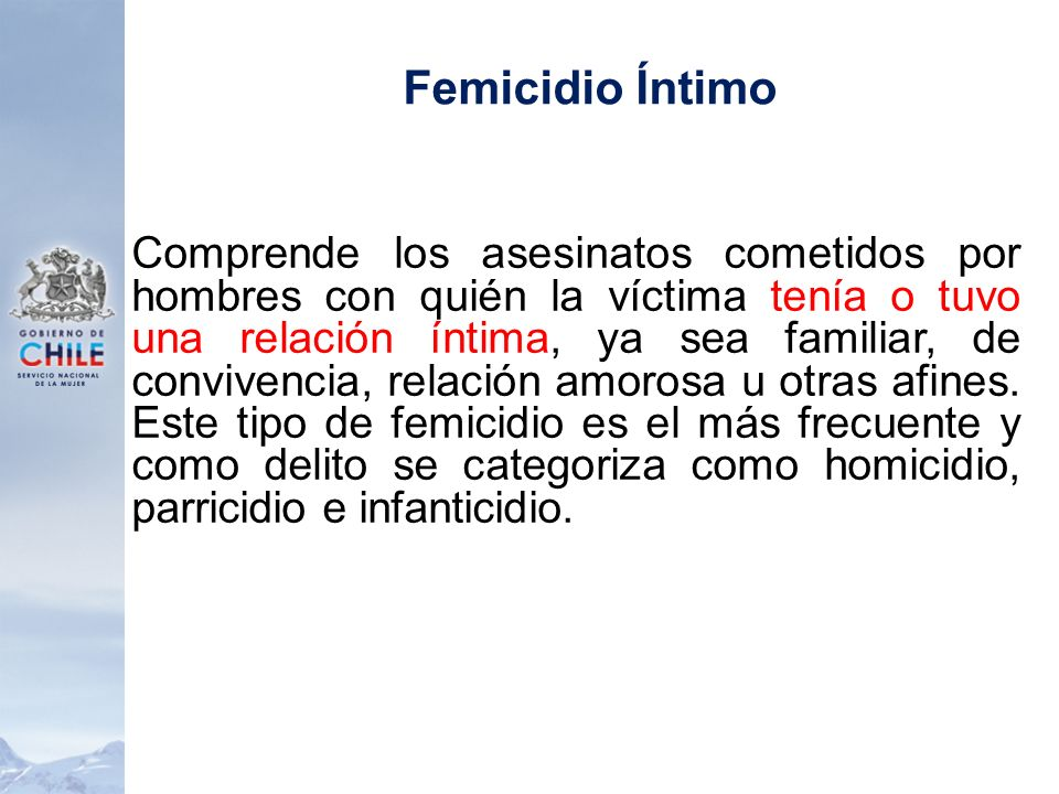Femicidio Íntimo