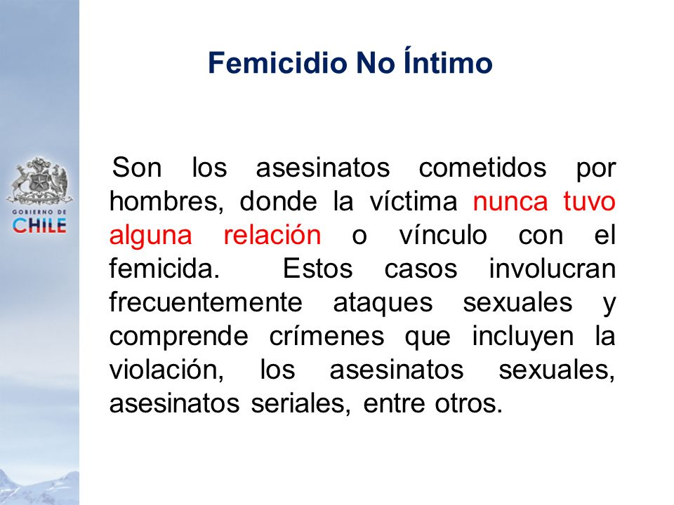 Femicidio No Íntimo