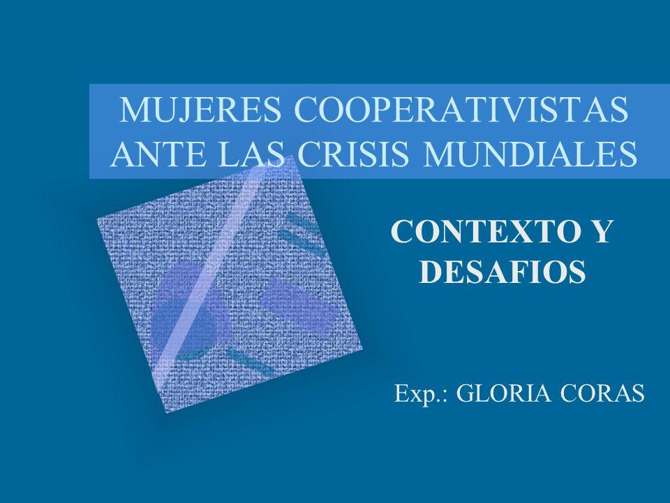 MUJERES COOPERATIVISTAS ANTE LAS CRISIS MUNDIALES