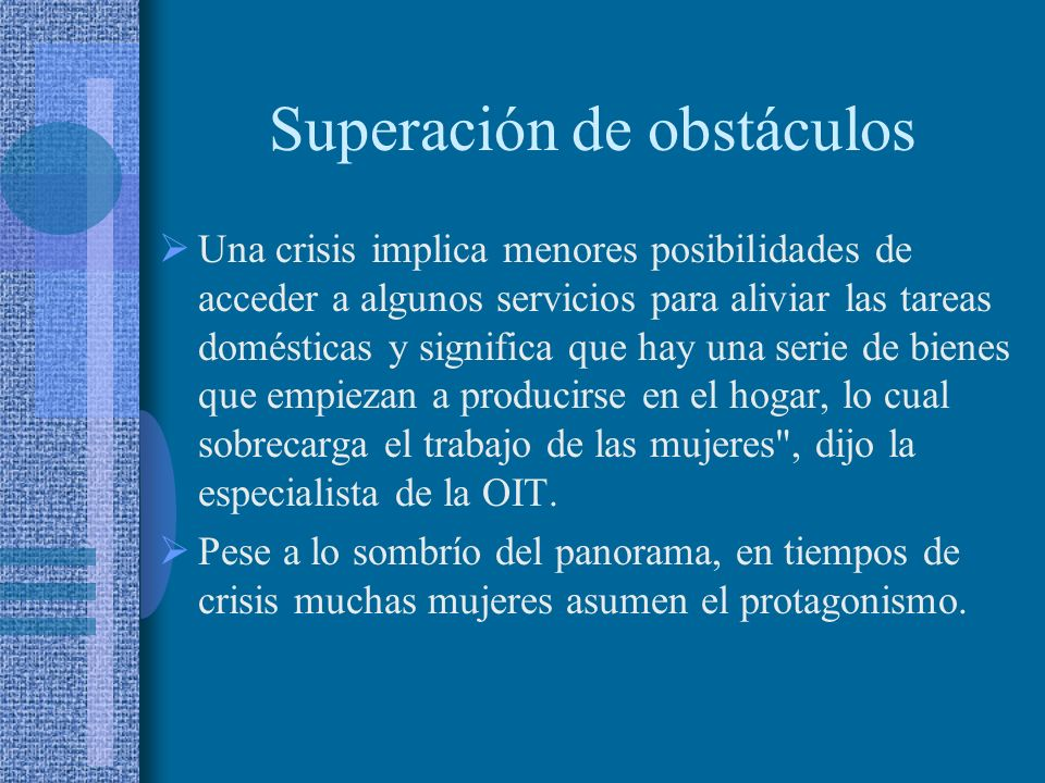 Superación de obstáculos