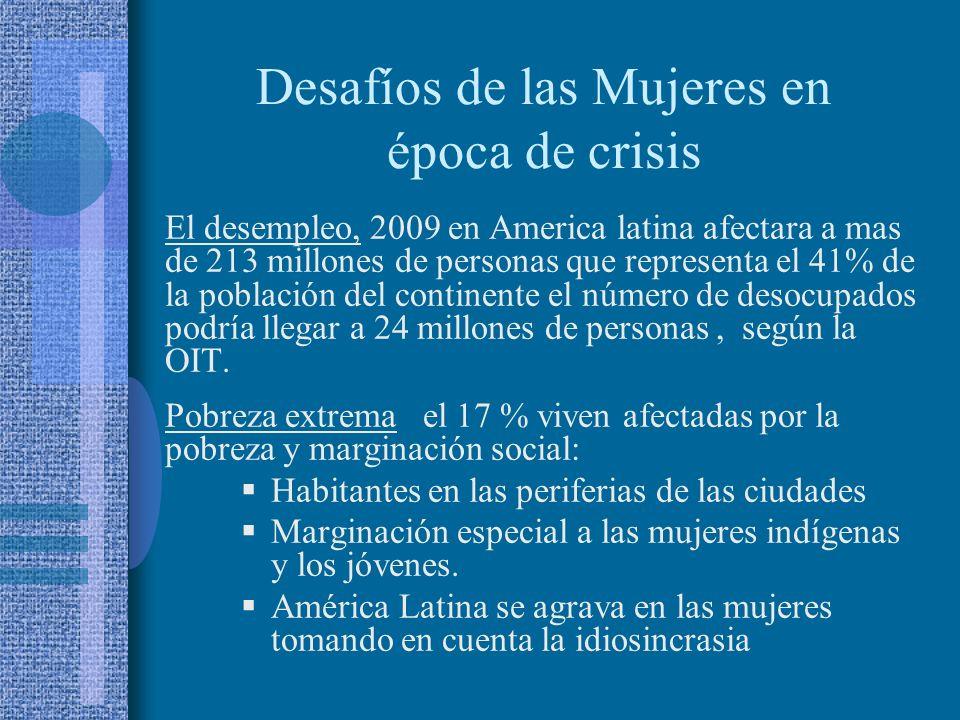 Desafíos de las Mujeres en época de crisis
