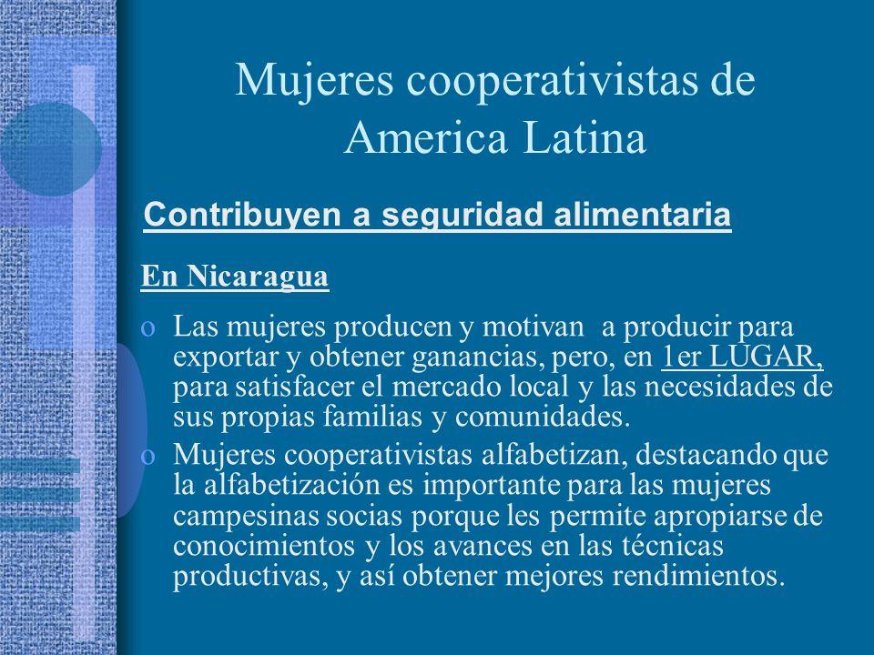 Mujeres cooperativistas de America Latina