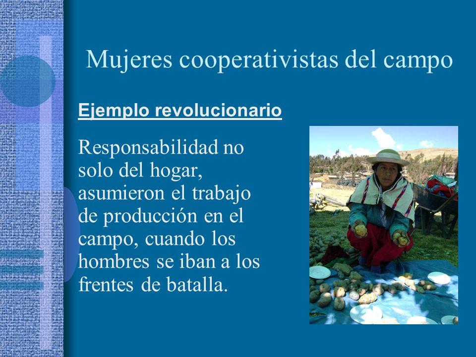 Mujeres cooperativistas del campo