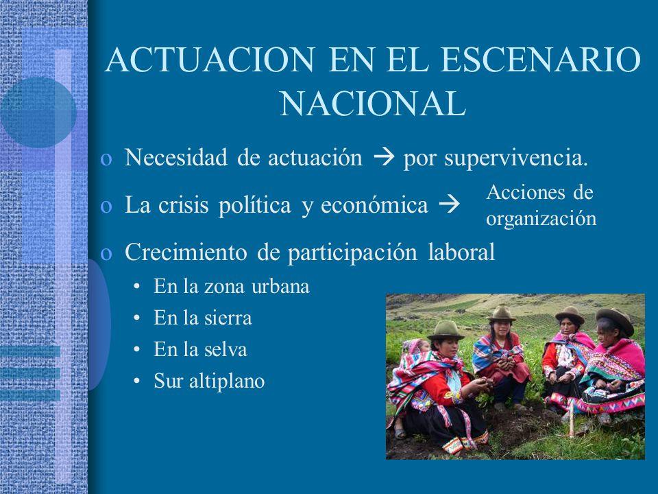 ACTUACION EN EL ESCENARIO NACIONAL
