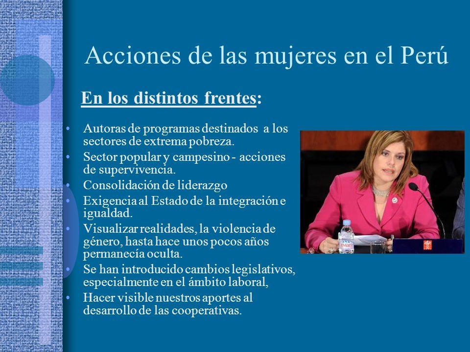 Acciones de las mujeres en el Perú