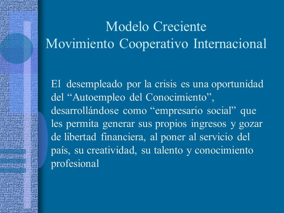 Modelo Creciente Movimiento Cooperativo Internacional
