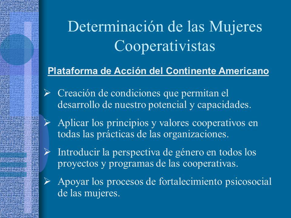 Determinación de las Mujeres Cooperativistas