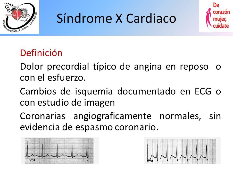 Síndrome X Cardiaco Definición