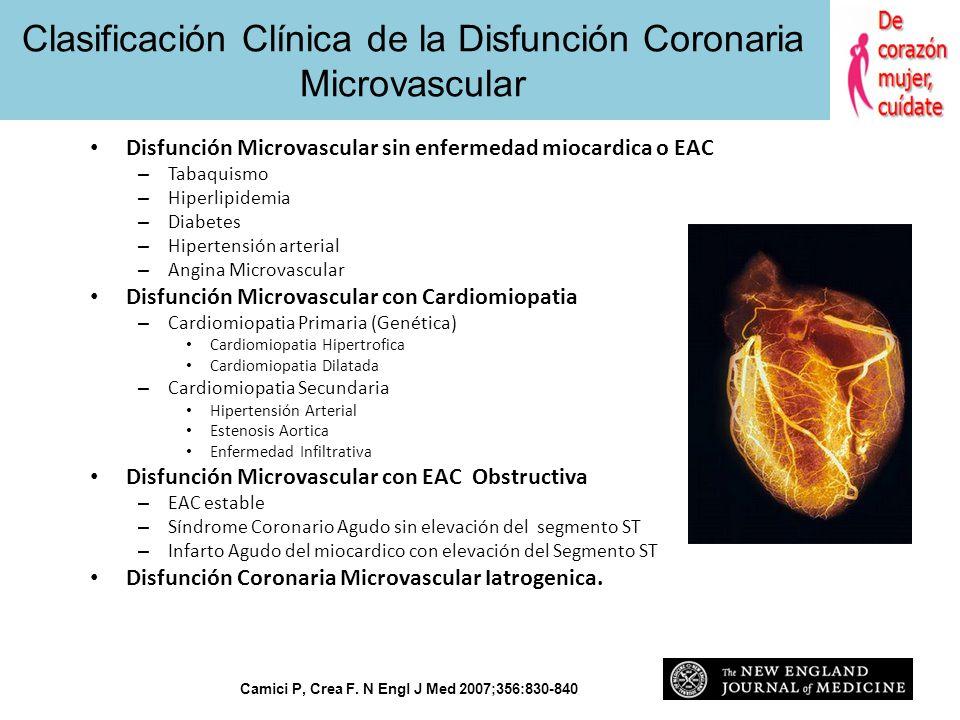 Clasificación Clínica de la Disfunción Coronaria Microvascular