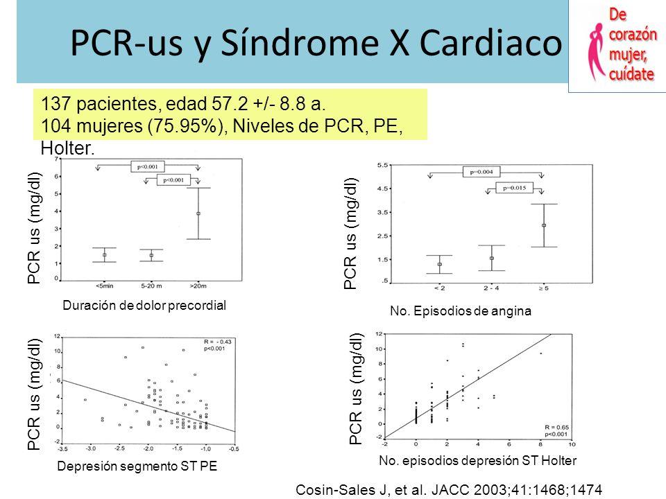 PCR-us y Síndrome X Cardiaco