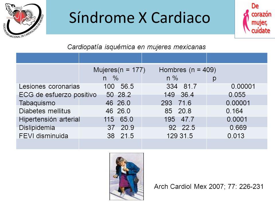 Sindrome X Cardiaco Mexico