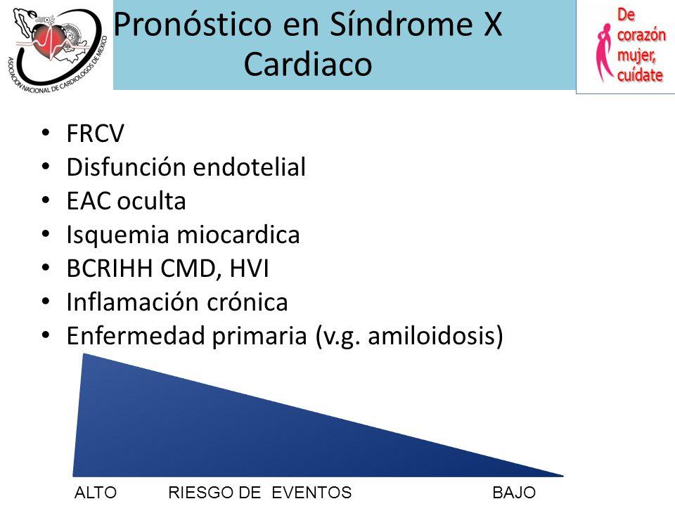 Pronóstico en Síndrome X Cardiaco