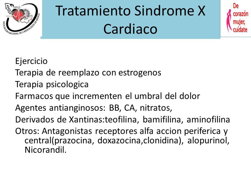 Tratamiento Sindrome X Cardiaco