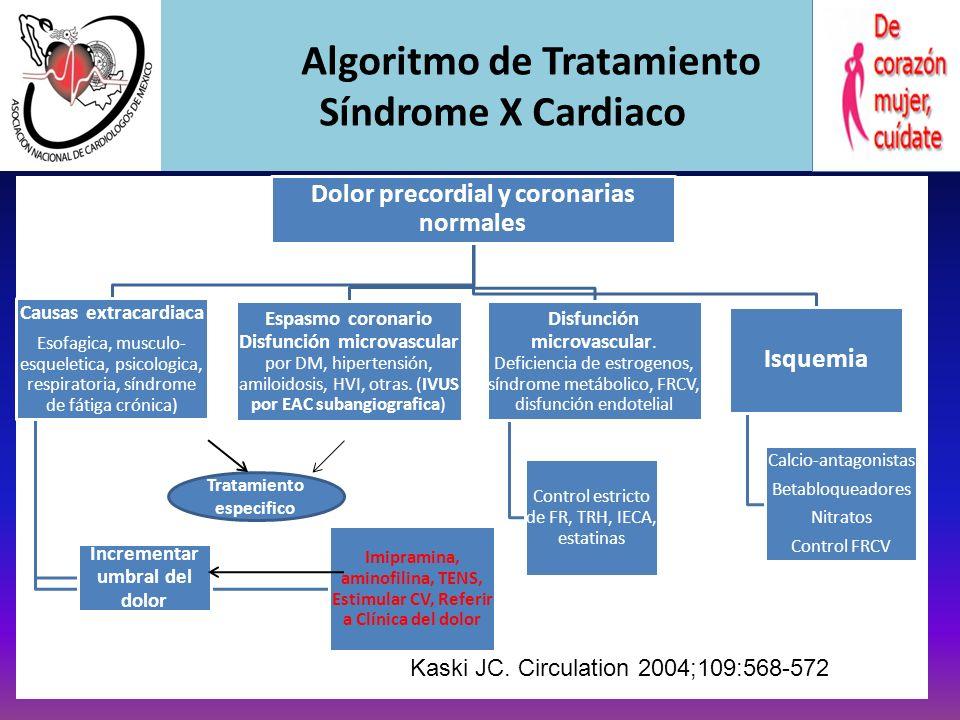 Algoritmo de Tratamiento Síndrome X Cardiaco