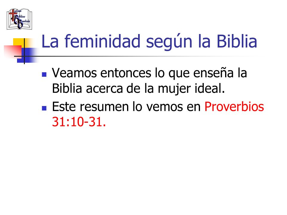 La feminidad según la Biblia