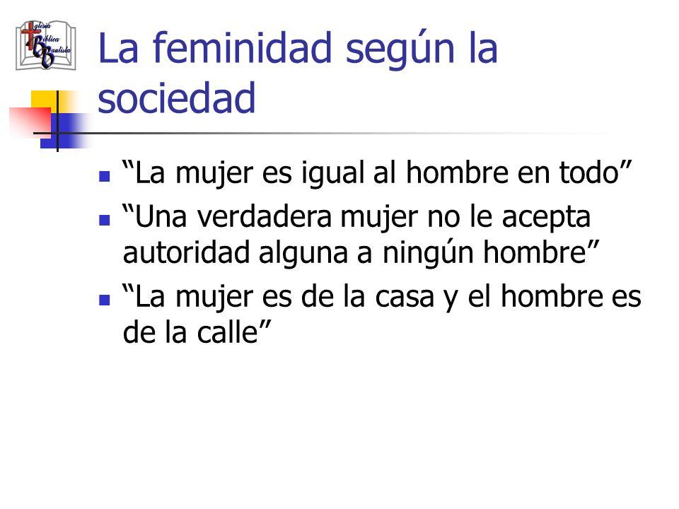 La feminidad según la sociedad