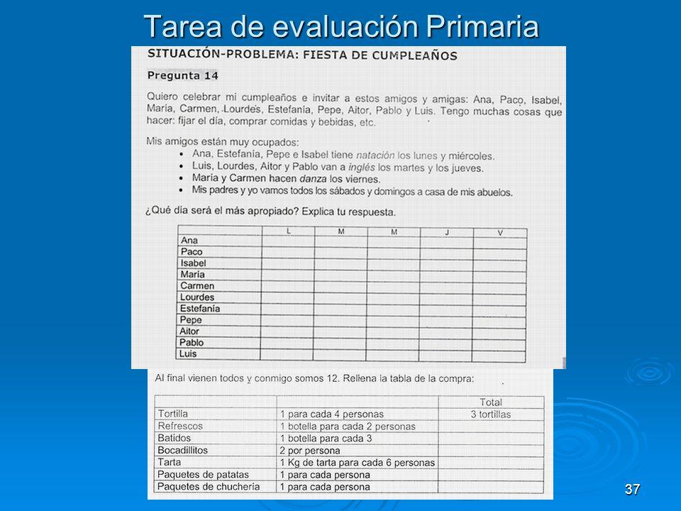 Tarea de evaluación Primaria