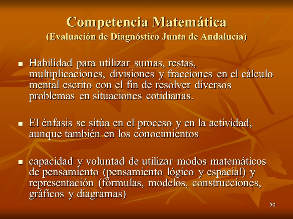 Competencia Matemática (Evaluación de Diagnóstico Junta de Andalucía)