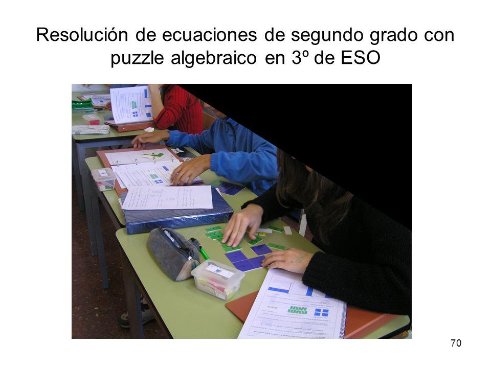 Resolución de ecuaciones de segundo grado con puzzle algebraico en 3º de ESO