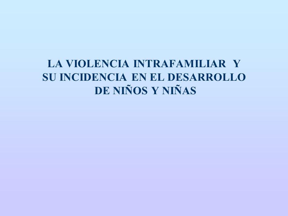 LA VIOLENCIA INTRAFAMILIAR Y SU INCIDENCIA EN EL DESARROLLO DE NIÑOS Y NIÑAS