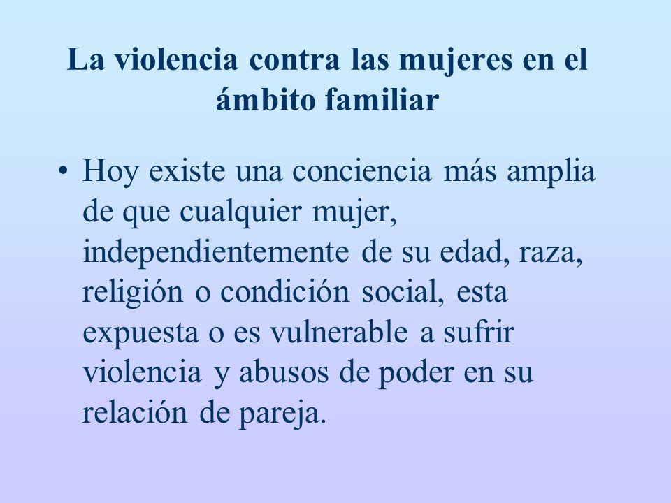 La violencia contra las mujeres en el ámbito familiar