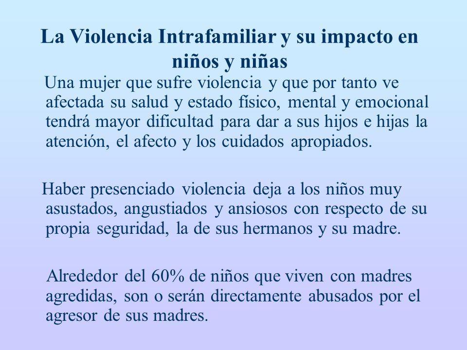 La Violencia Intrafamiliar y su impacto en niños y niñas