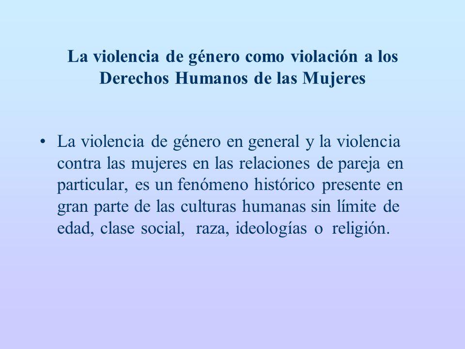 La violencia de género como violación a los Derechos Humanos de las Mujeres
