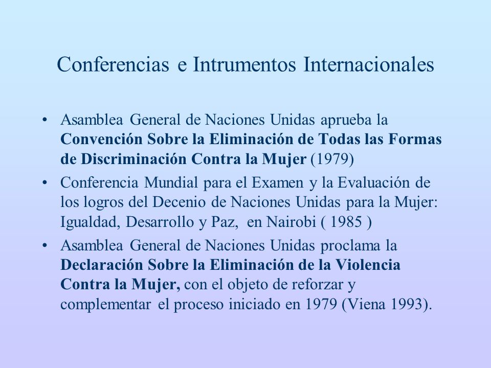 Conferencias e Intrumentos Internacionales
