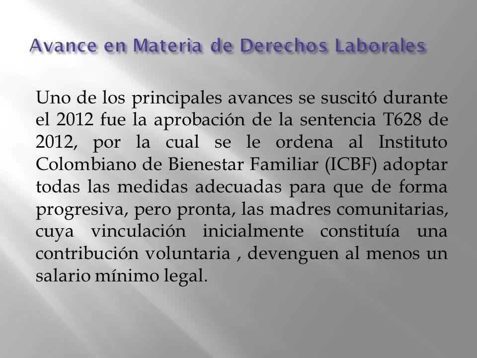 Avance en Materia de Derechos Laborales