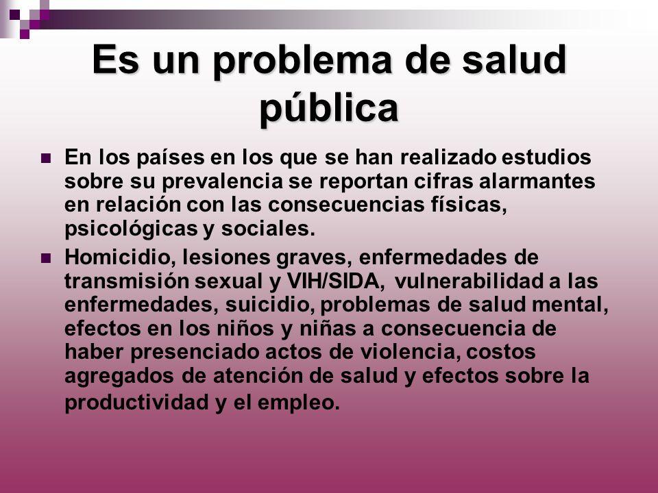 Es un problema de salud pública