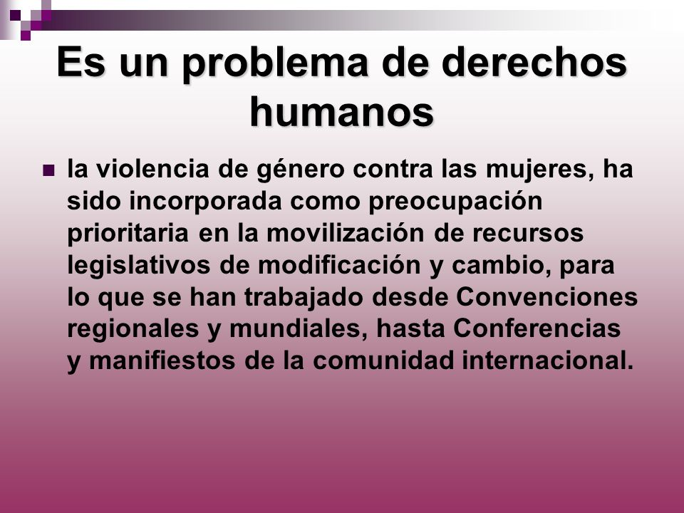 Es un problema de derechos humanos