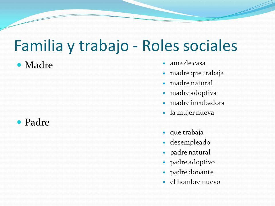 Familia y trabajo - Roles sociales