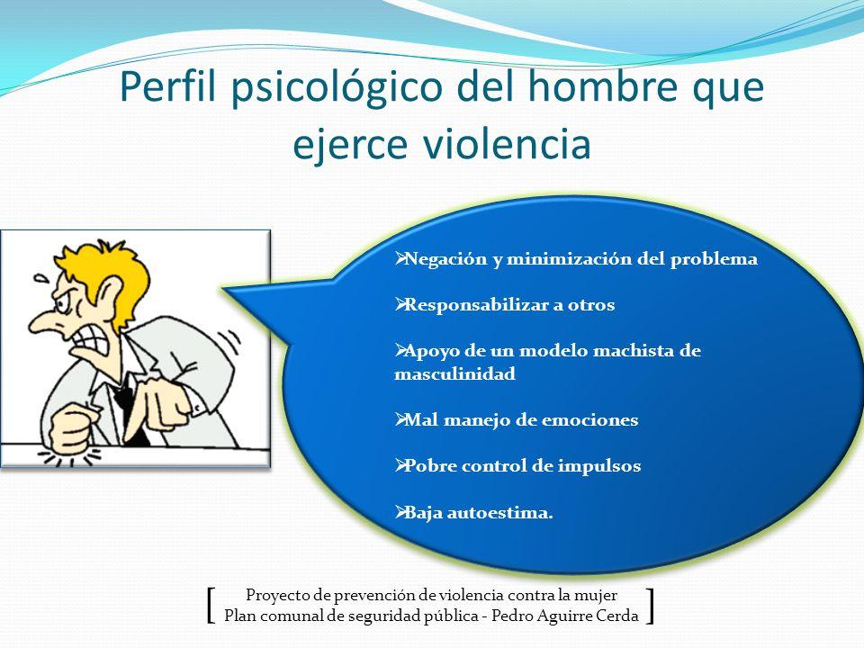 Perfil psicológico del hombre que ejerce violencia