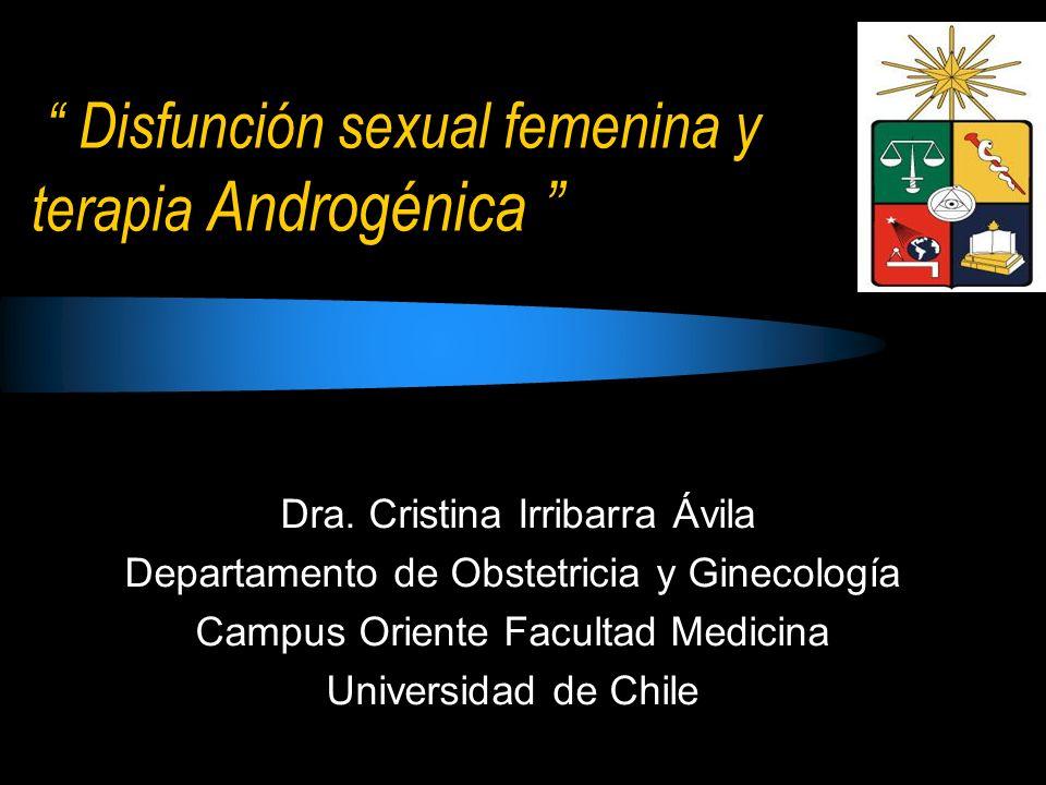 Disfunción sexual femenina y terapia Androgénica