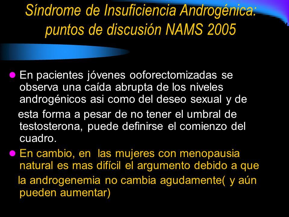 Síndrome de Insuficiencia Androgénica: puntos de discusión NAMS 2005