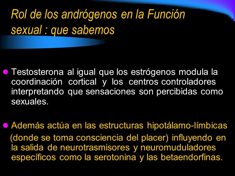 Rol de los andrógenos en la Función sexual : que sabemos